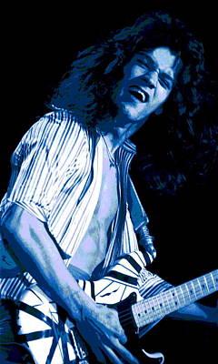 Edward Van Halen Photograph - Blue Guitar Blues #2 by Ben Upham