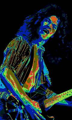 Van Halen Photograph - Cosmic Blues Guitar by Ben Upham