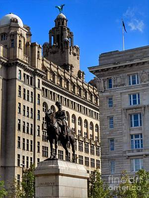 Photograph - Edward Vii At The Liver Buildings by Joan-Violet Stretch