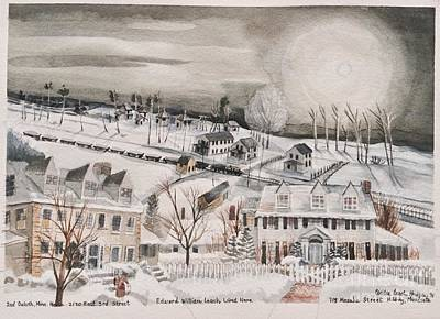 Duluth Mixed Media - Edward W Leach Lived Here by Cecilia Hodges