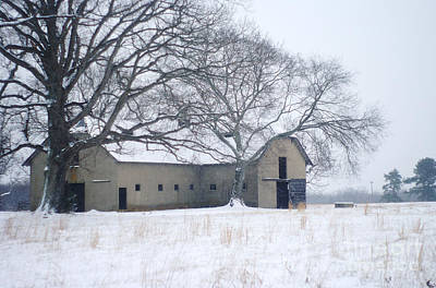 Photograph - Edwardian Barn In The Snow by Suzanne Powers