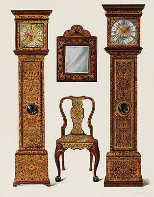 Drawing - Edwardian Furniture by Shirley Slocombe