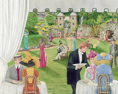 Painting - Edwardian Garden Party At The Grotto by Diane Harm