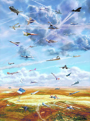 Digital Art - Edwards Air Force Base by Dave Luebbert