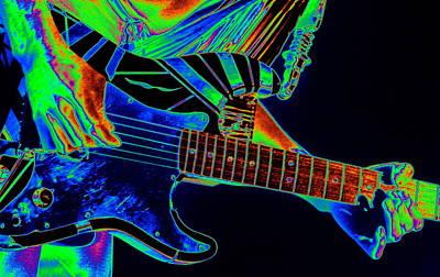Edward Van Halen Photograph - Cosmic Guitar 2 by Ben Upham