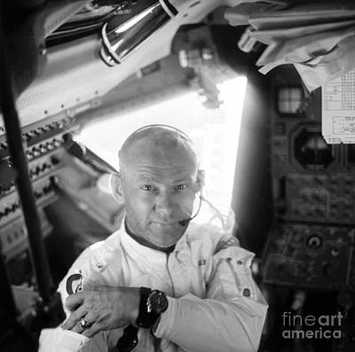 Photograph - Edwin Buzz Aldrin (1930-) by Granger