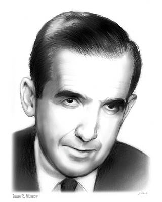 Drawing - Edwin R. Murrow by Greg Joens