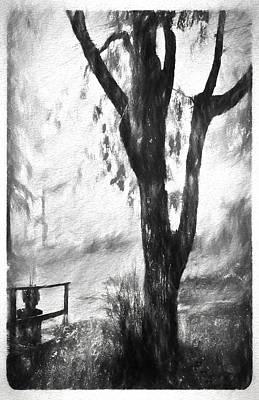 Tree In The Mist Art Print by Rena Trepanier