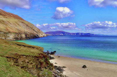 Photograph - Keem Bay With The Minaun Cliffs In The Distance Off Achill Island by Paul Mc Namara