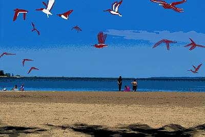 Photograph - Erie Beach Scene by Anand Swaroop Manchiraju