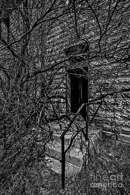 Photograph - Eerie Entrance To An Old School by Sue Smith