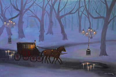 Halloween Painting - Eerie Evening by Ken Figurski