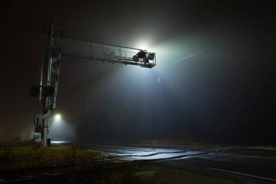 Photograph - Eerie Intersection by Brian Hale