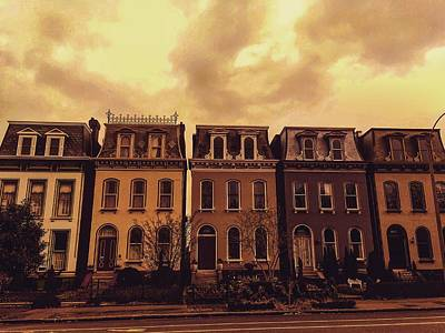 Photograph - Eerie Sky Meets Old World Architecture by Michael Oceanofwisdom Bidwell