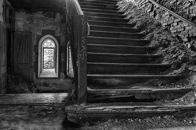 Eerie Staircase Print by Mike Burgquist