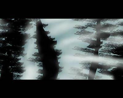 Eerie Digital Art - Eerie Trees by Jera Sky