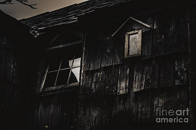 Eerie Vintage Abandoned Home. The Dark Shack Art Print