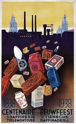Global Design Shibori Inspired - Eeuwfeest Exhibition 1938 - Vintage Illustrated Poster by Studio Grafiikka