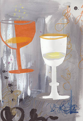 Painting - Efervescent Champagne Cups by Amara Dacer