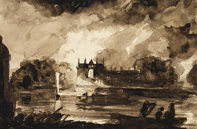 Lord Drawing - Effect For Newstead Abbey by Thomas Cole