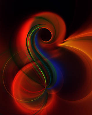 Abstract Movement Digital Art - Effective Communication by Georgiana Romanovna