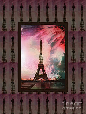 Photograph - Effel Tower Paris France Landmark Photography Towels Pillows Curtains Tote Bags by Navin Joshi
