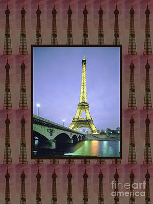 Photograph - Effel Tower Paris France Landmark Photography Tshirts Pillows Curtains Tote Bags Phone Cases Towels by Navin Joshi