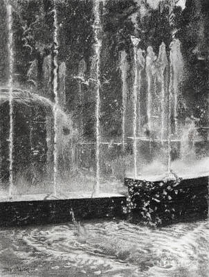 Effervescence Fountain In Milano Italy Art Print by Kelly Borsheim