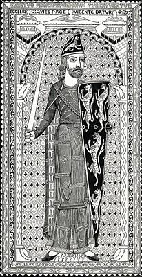 The Maine Drawing - Effigy Of Geoffry Plantagenet, From His by Vintage Design Pics