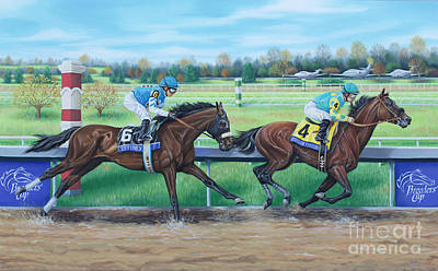 Painting - Effinex Verses American Pharoah by Tish Wynne