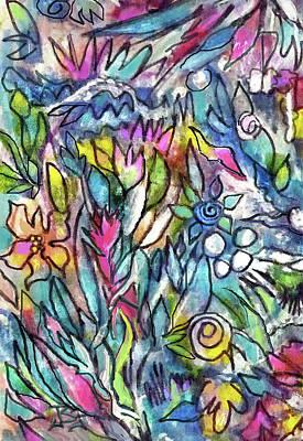 Painting - Effulgence-detail by Jean Batzell Fitzgerald
