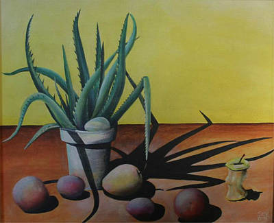 Egg And Aloe Art Print