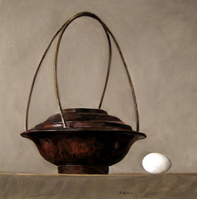 Painting - Egg And Asian Wood Basket  by Robert Holden