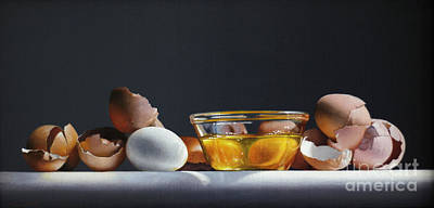 Painting - Egg And Shells #12 by Larry Preston