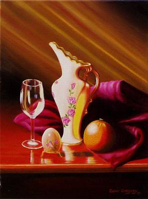 Painting - Egg And Things by Gene Gregory