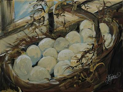 Painting - Egg Basket by Terri Einer