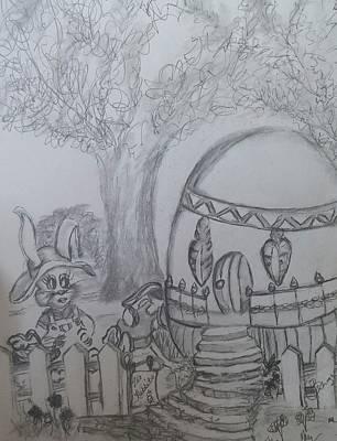Easter Celebration Drawing - Egg-cellent by CaSondra Burger