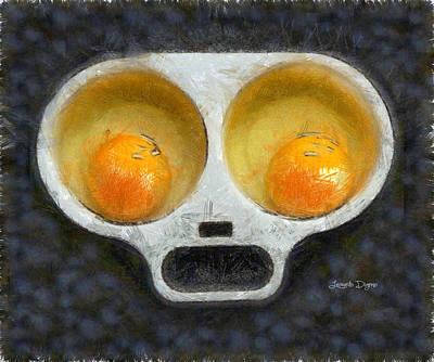 Snack Digital Art - Egg Face - Da by Leonardo Digenio