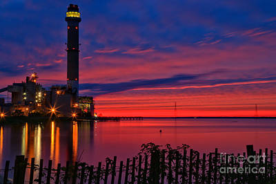 Photograph - Egg Harbor Bay Fiery Sunset by Adam Jewell