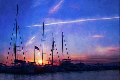 Photograph - Egg Harbor Marina Sunset by Joel Witmeyer
