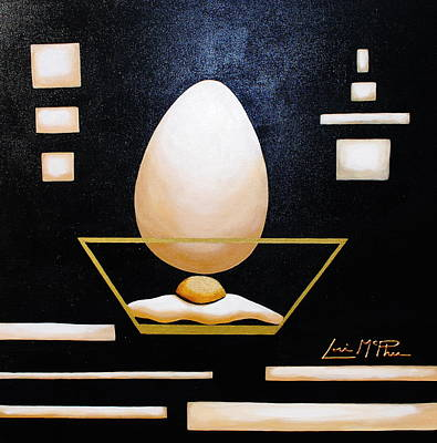 A Sunny Morning Painting - Egg In A Bowl by Lori McPhee