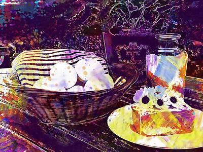 Digital Art - Egg Milk Butter Out Garden Herbs  by PixBreak Art