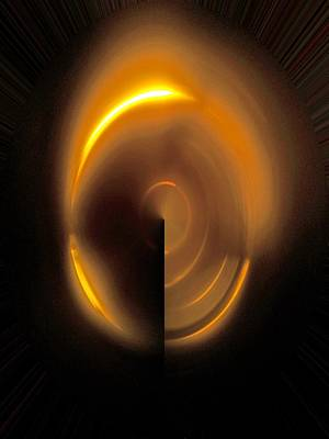 Digital Art - Egg Of Light Emerging From The Dark by James Granberry