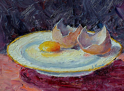 Painting - Egg On A Plate by Jill Musser