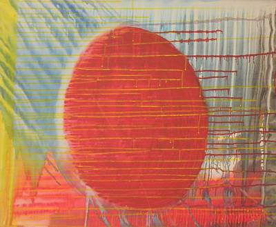 Egg Shaped Red Orb Art Print by James Howard