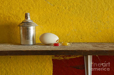 Photograph - Egg With Metal Container by Nareeta Martin