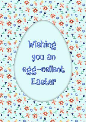 Digital Art - Eggcellent Easter by JH Designs