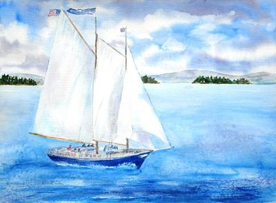 Painting - Eggemoggin Cruise by Diane Kirk