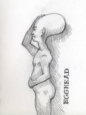 Egghead Art Print