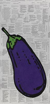 Eggplant  Art Print by Jen Gabriele